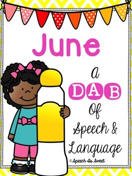 A Dab of Speech and Language Bundle - Speech Therapy Activities