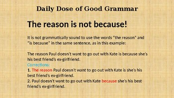 A Daily Dose of Good Grammar (198 slide PowerPoint)