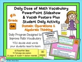 Math Word Wall Plus PPT Slideshows Operations in Algebra (