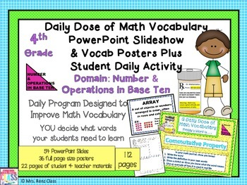 Numbers in Base Ten Math Word Wall Posters Plus PPT Slides