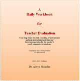 A Daily Workbook for Teacher Evaluation (2014-2015)