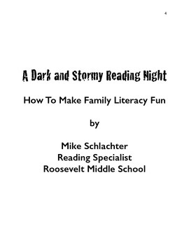 A Dark and Stormy Reading Night Complete Planning and Implementation Guide