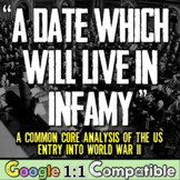 A Date Which Will Live in Infamy: A Common Core Analysis of FDR & World War II!
