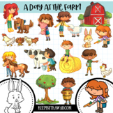 A Day At The Farm Clip Art Collection