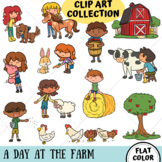 A Day At The Farm Clip Art Collection (FLAT COLOR ONLY)