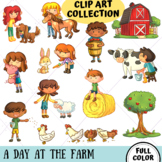 A Day At The Farm Clip Art Collection (FULL COLOR ONLY)