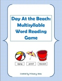 A Day At the Beach: A multisyllable Word Reading Game