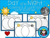 A+ Day & Night Venn Diagram...Compare and Contrast