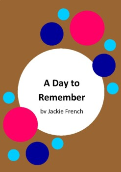 A Day To Remember - The Story of Anzac Day By Jackie French - Gallipoli