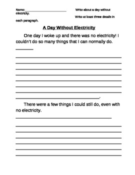essay on a day without electricity