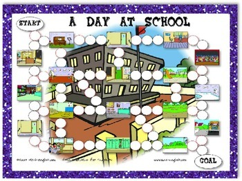 A Day at School Task Card Game