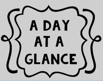 A Day at a Glance