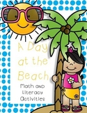 A Day at the Beach Math and Literacy Activities