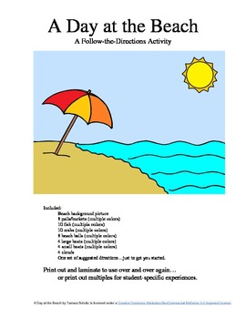 A Day at the Beach--A Follow the Directions Activity
