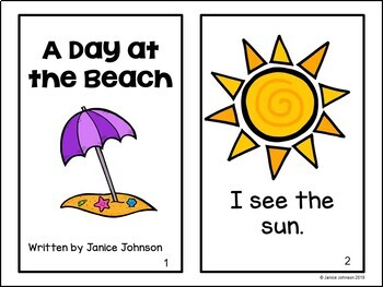 A Day at the Beach Reader and Sorting Activity {Young Readers, ESL, EFL}