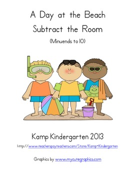 Beach Day Subtract the Room (Minuends to 10)