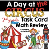 A Day at the Cirucs: 2nd Grade Math Task Card Review