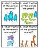 A Day at the Zoo Fraction Task Cards (3.NF.1)