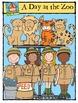 A Day at the Zoo {P4 Clips Trioriginals Digital Clip Art}