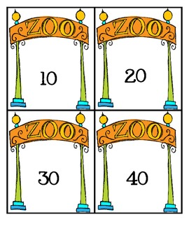 A Day at the Zoo Rounding to Nearest 10 Task Cards (3.NBT.1)