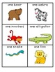 A Day at the Zoo with Collective Nouns Matching Game (2.L.1)