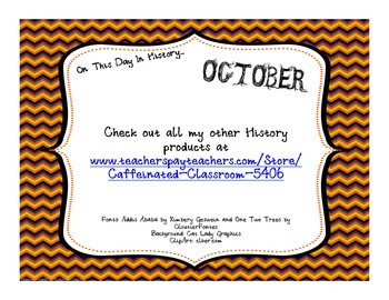 This Day in History QR Code Calendar - OCTOBER