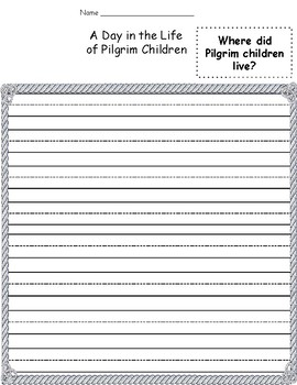 A Day in the Life Of Pilgrim Children
