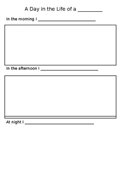 A Day in the Life of A... Worksheet