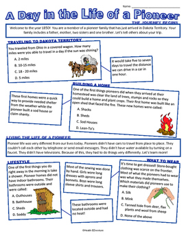 Social Studies: A Little About Pioneer Life
