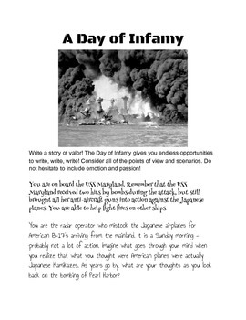 A Day of Infamy Writing Activities