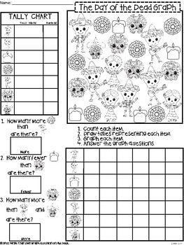 A+ Day of the Dead Graph: Count, Tally, Graph, and Compare