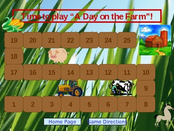 """A Day on the Farm"" Language Game"