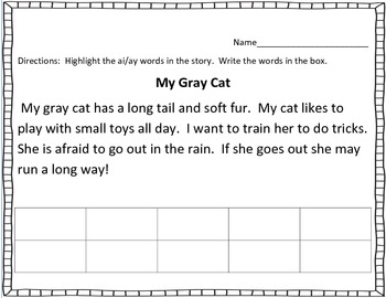 A Day on the Train: ai/ ay vowel team pack