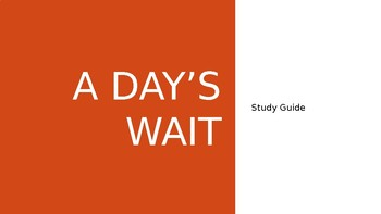 A Day's Wait: Study Guide