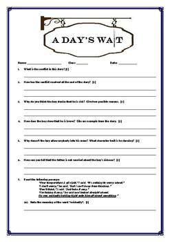 Literature Quiz - A Day's Wait by Earnest Hemingway