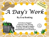 A Day's Work by Eve Bunting:  A Complete Literature Study!