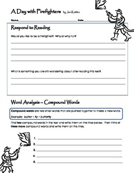 A Day with Firefighters {Comprehension and Word Work Activities}