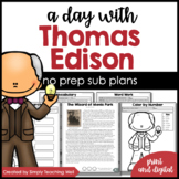 A Day with Thomas Edison Mini-Unit   Distance Learning