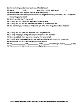 A Day's Pleasure by Hamlin Garland Complete Guided Reading Worksheet
