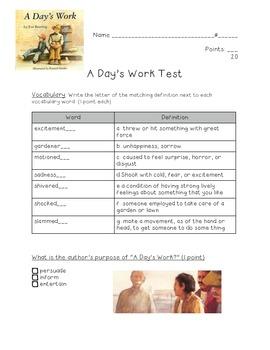 A Day's Work Test: Kid-friendly!