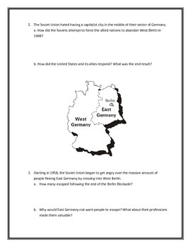 The History of the Berlin Wall- Webquest and Video Analysis with Key