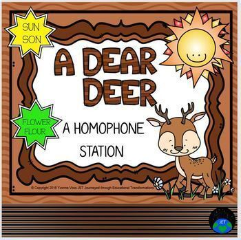 A Dear Deer Homophone Station