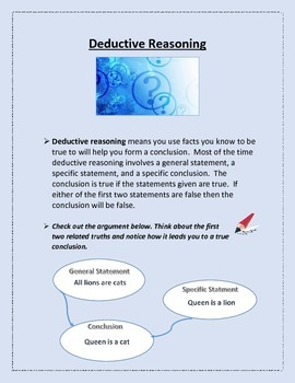 Deductive Reasoning Lesson for Persuasive Writing