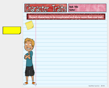 A Deep Study of Character: Digital Interactive FREE Character Trait Slide