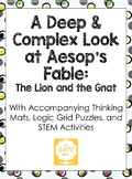 A Deep and Complex Look at the Aesop's Fable: The Lion and the Gnat