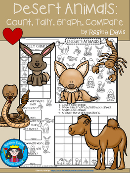 A+ Desert Animals... Count, Tally, Graph, and Compare