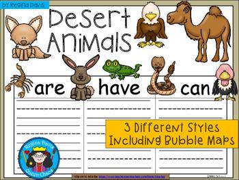 A+ Desert Animals ...Three Graphic Organizers