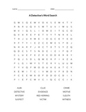 A Detective's Word Search