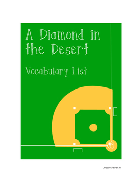 A Diamond in the Desert: Vocabulary Handout