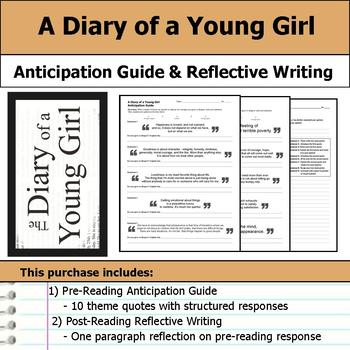 A Diary of a Young Girl - Anticipation Guide & Written Reflection